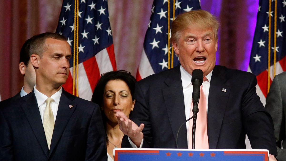 Corey Lewandowski and Donald Trump at an event. (Photo: AP)