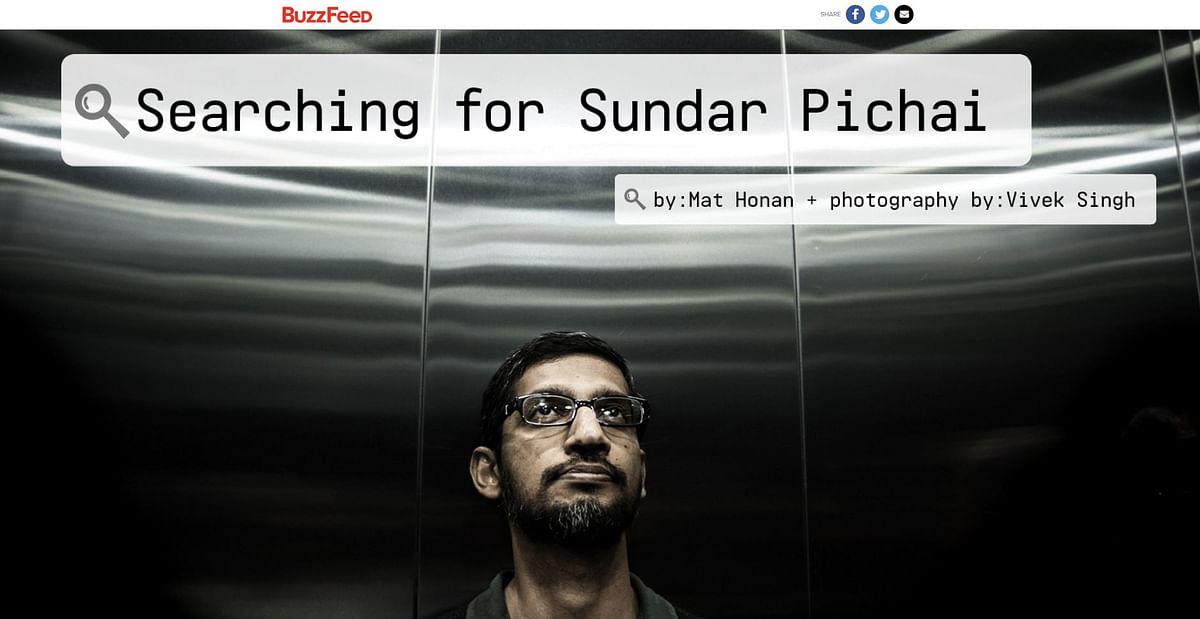 "A screengrab of the BuzzFeed profile on Sundar Pichai. (Photo Courtesy: <a href=""http://www.buzzfeed.com/mathonan/searching-for-google-ceo-sundar-pichai-the-most-powerful-tec#.nm5wQ5QBOK"">Buzzfeed</a>)"