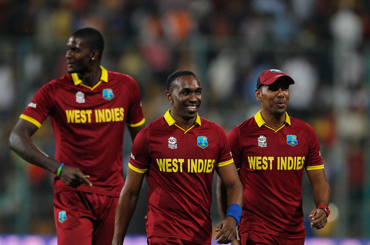 Dwayne Bravo,Samuel Badree and Jason Holder lead the WI bowling attack (Picture: AP)