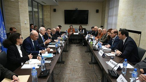 Syrian peace talks at the United Nations Office in Geneva, Switzerland. (Photo:AP)