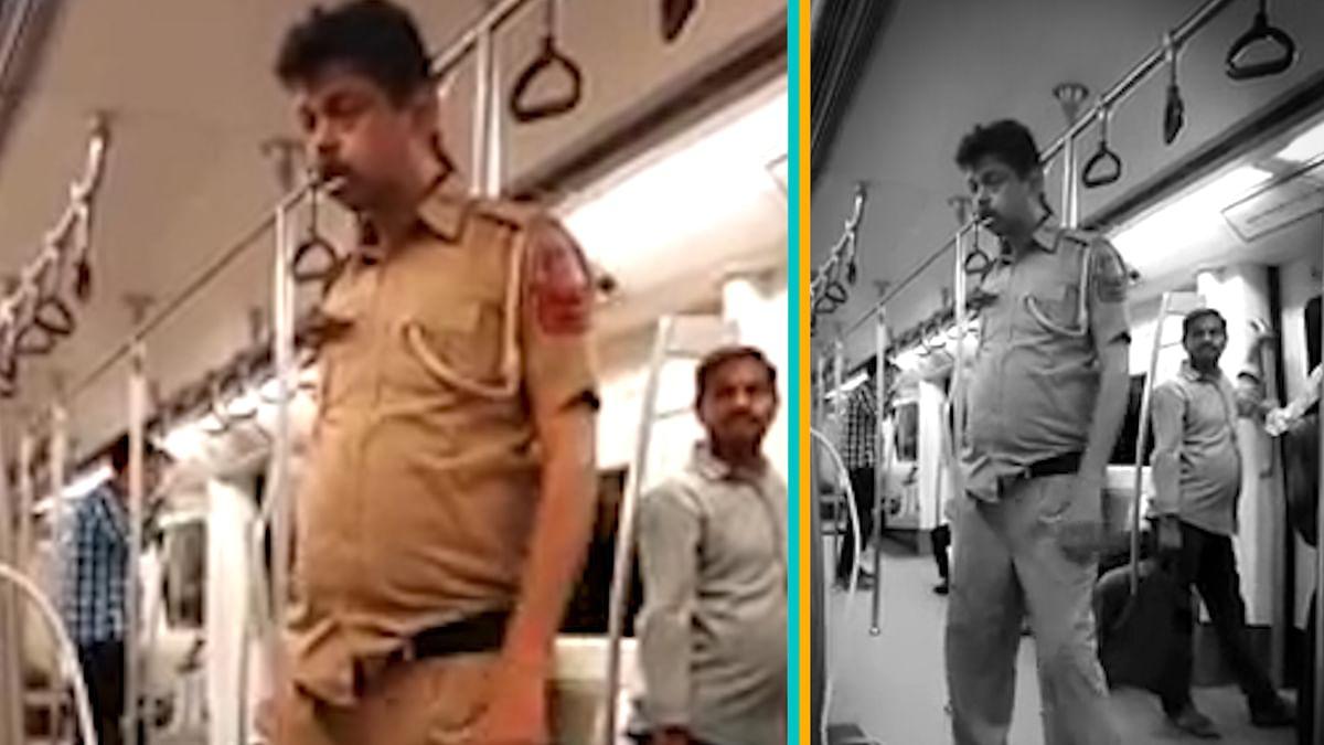 Salim PK filmed in the Delhi Metro. (Photo: YouTube Screengrab)