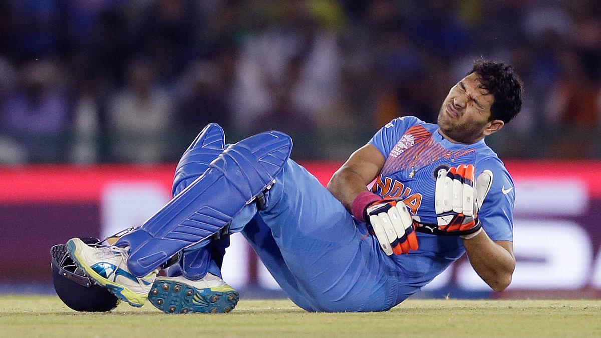 Yuvraj Singh went through a lot of pain during India's match against Australia. (Photo: AP)