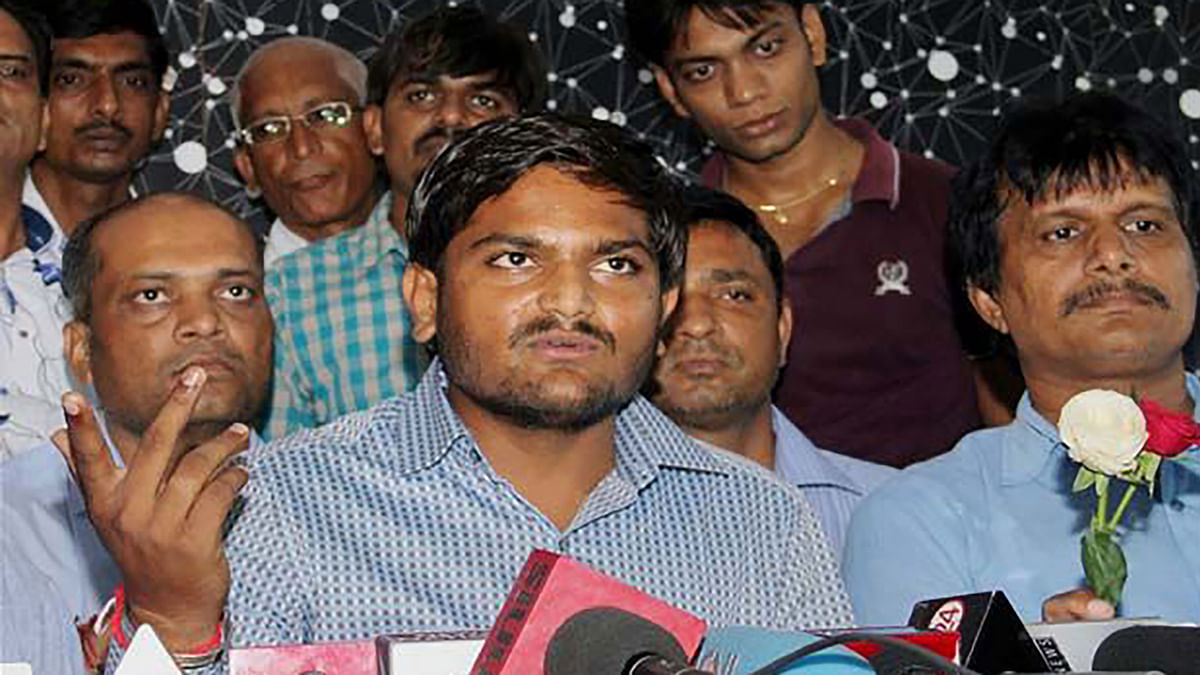 Police recovered a mobile phone charger, battery and a letter from Hardik Patel's possession in a Surat jail. (Photo: PTI)