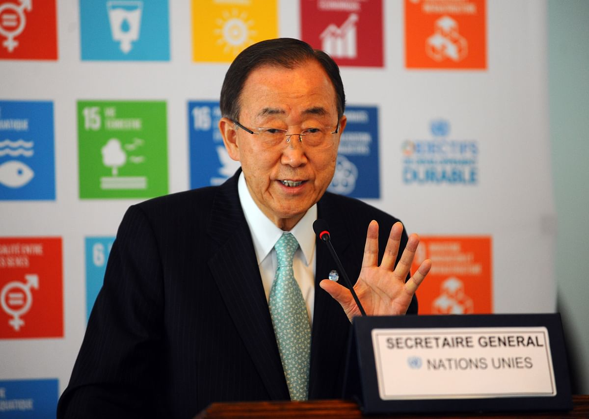 File photo of Ban Ki-Moon, Secretary General of the UN. (Photo: AP)