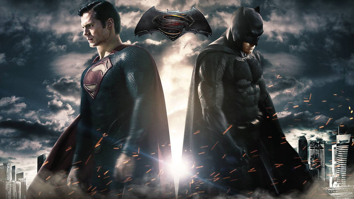 Movie poster of  <i>Batman v Superman: Dawn of Justice</i>