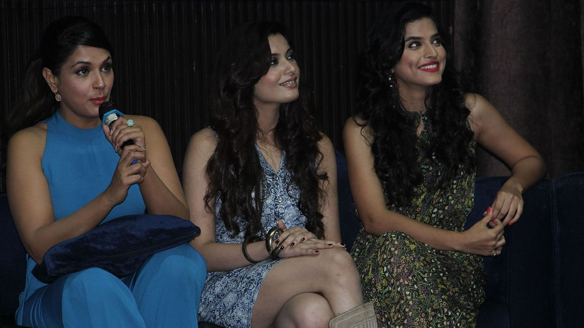 Richa Chadha with the cast of <i>Confessions </i>(Photo: Hardly Anonymous)