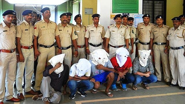 "United we stand in giving ladies more than a hand. (Alleged rapists in police custody)(Photo Courtesy: <a href=""http://www.hindustantimes.com/"">hindustantimes</a>)"