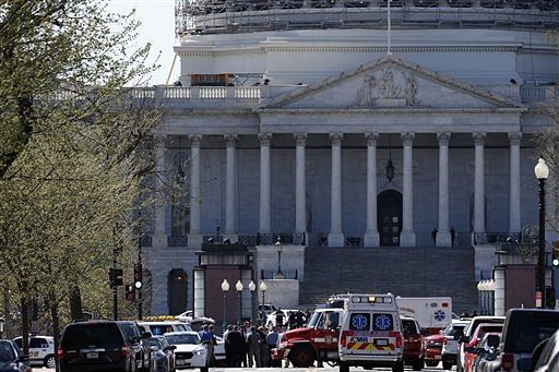 White House was briefly under lockdown after shots were fired at US Capitol. (Photo: AP)