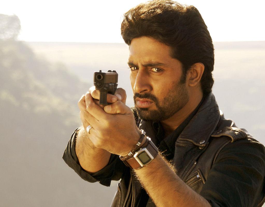 Abhishek Bachchan in a scene from <i>Dhoom 2</i>