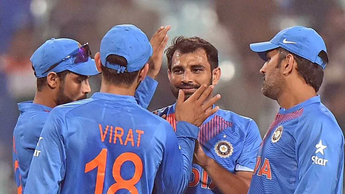Mohammed Shami took two wickets in the warm-up game against West Indies. (Photo: PTI)