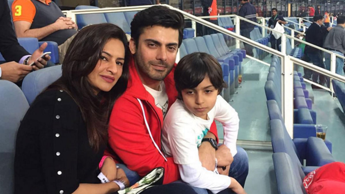 Fawad Khan with wife Sadaf and son Ayaan (Photo courtesy: Instagram)