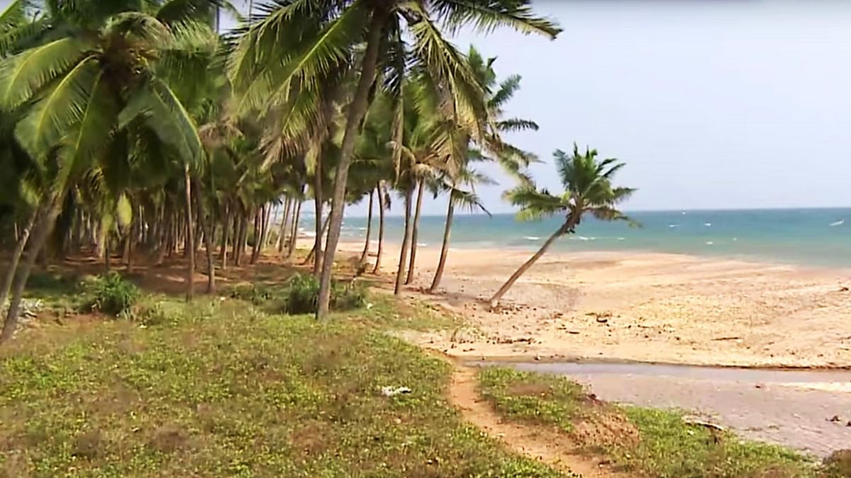 "A beach in Enayam. (Photo: <a href=""https://www.youtube.com/watch?v=z3NoGOpoves"">YouTube Screengrab</a>)"