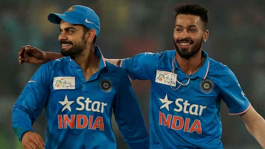 Virat Kohli (L) and Hardik Pandya (R). (Photo: AP)