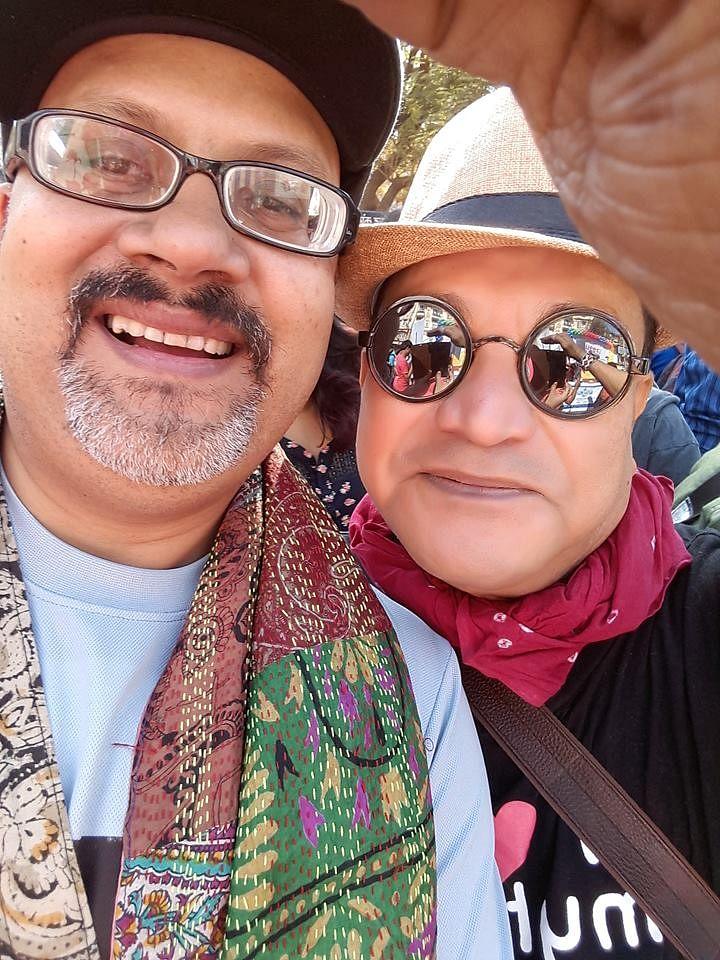 Prof Das with Ashok Row Kavi, a prominent LGBT rights activist. (Photo Courtesy: Pratulananda Das)
