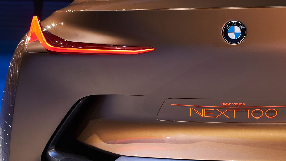 Rear-view of BMW Vision. (Photo: BMW)