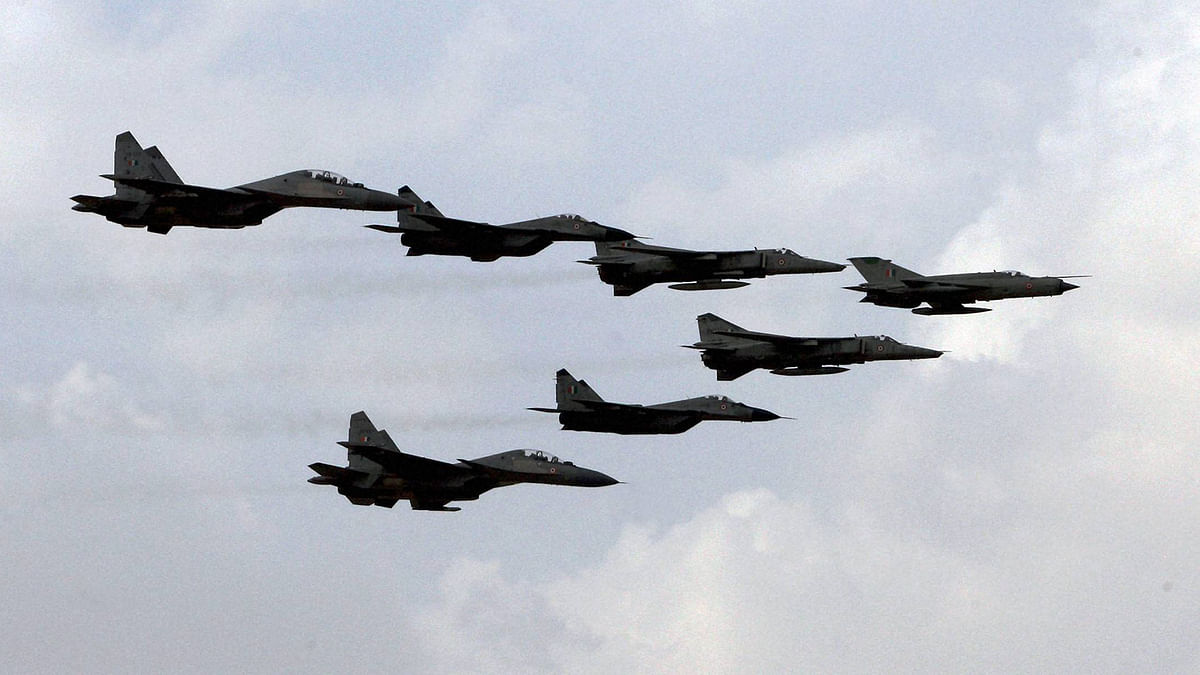 Indian Air Forces fighter planes during Exercise Iron Fist in the desert of Pokhran on Friday. (Photo: PTI)