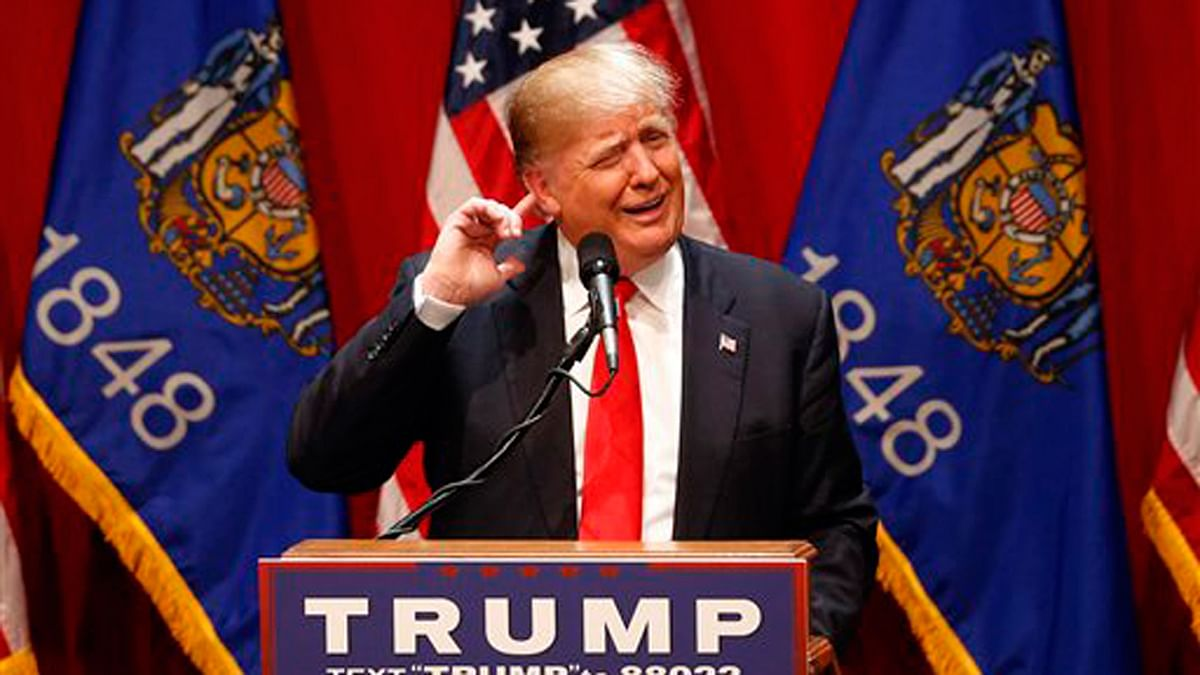 Republican presidential candidate Donald Trump speaks during a campaign event in Wisconsin. (Photo: AP)