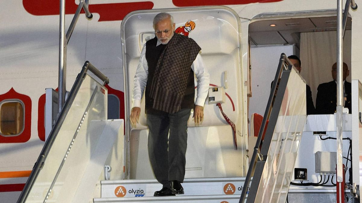 PM Modi during a his trip to Paris. (Photo: PTI)