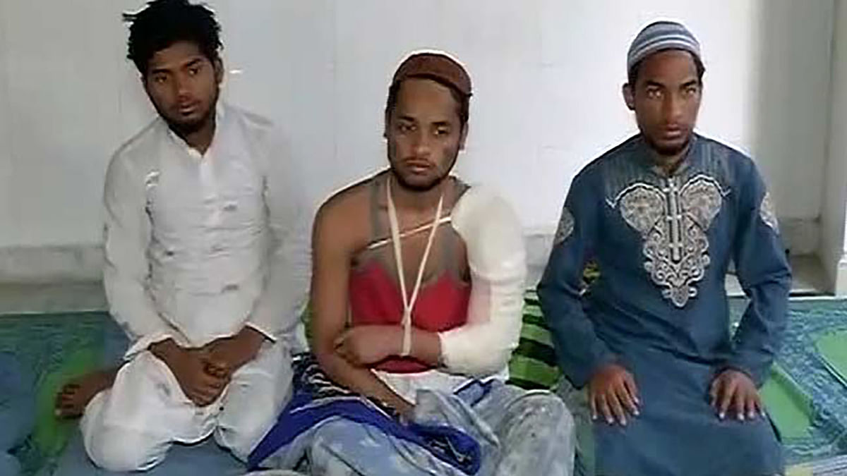 The three youths who were attacked. (Photo: ANI)