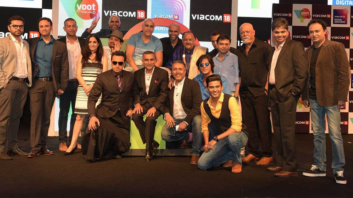 Team VOOT at the launch event. (Photo: Viacom18)