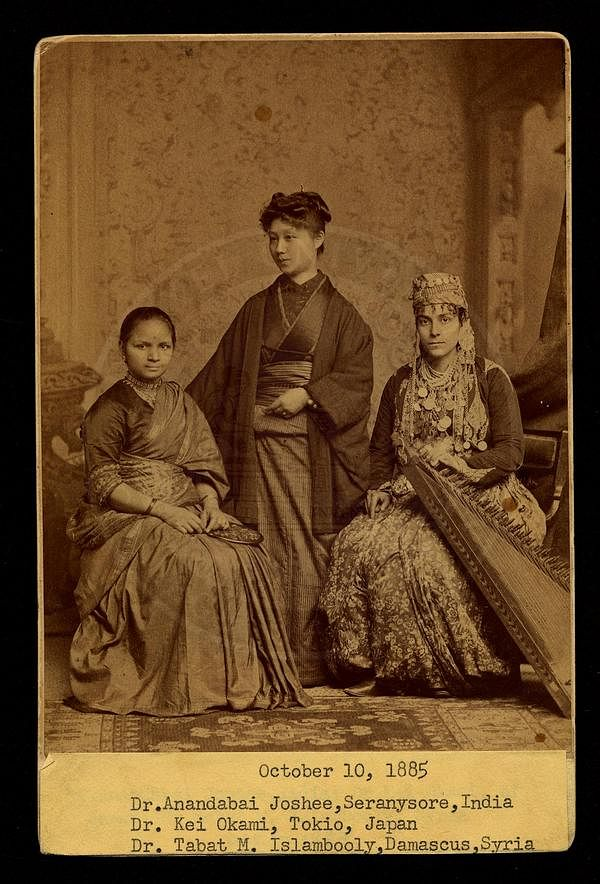 Dr Anandi Joshi with her batchmates from Japan and Syria.