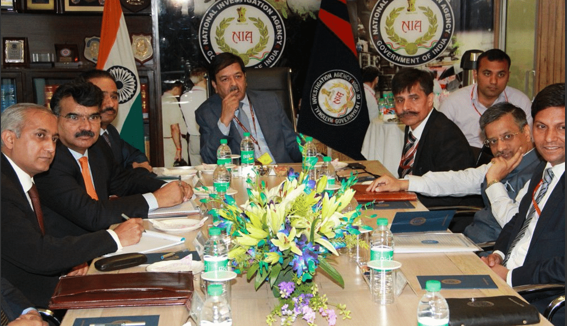 Briefing underway of Pakistan JIT members by NIA officers on Monday, 28 March (Photo Courtesy: NIA)