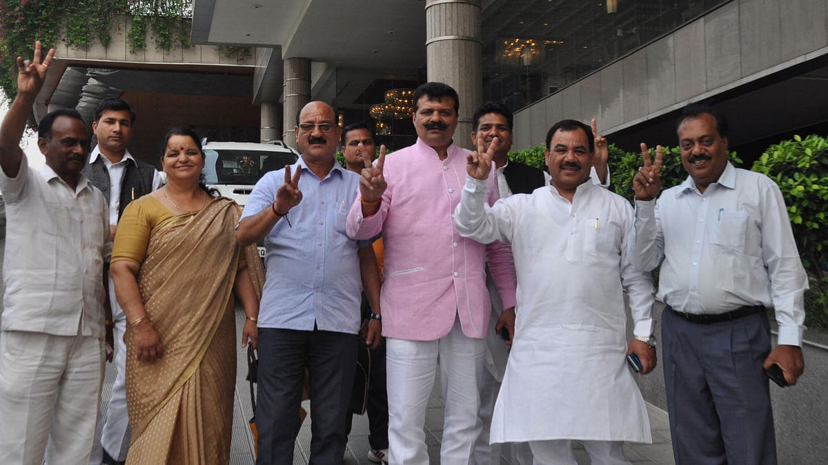 The nine rebel Congress MLA's from Uttarakhand. (Photo: IANS)