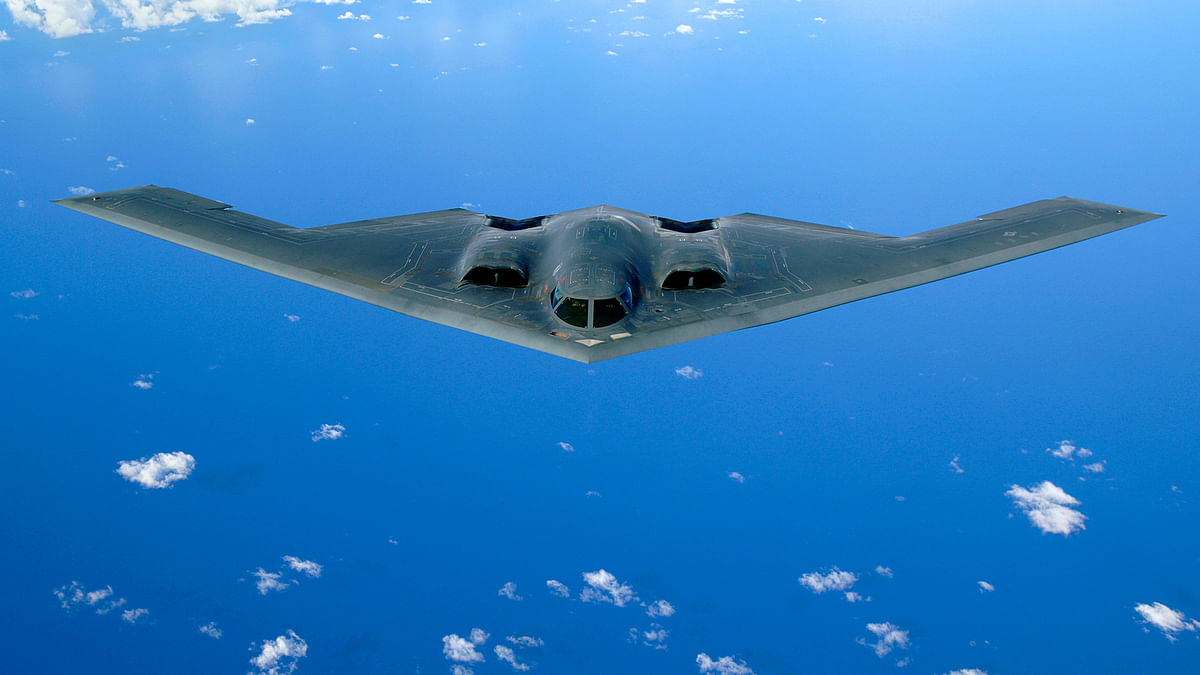 Two of these B-2 Bombers sent to Asia. (Photo Courtesy: United States Air Force)