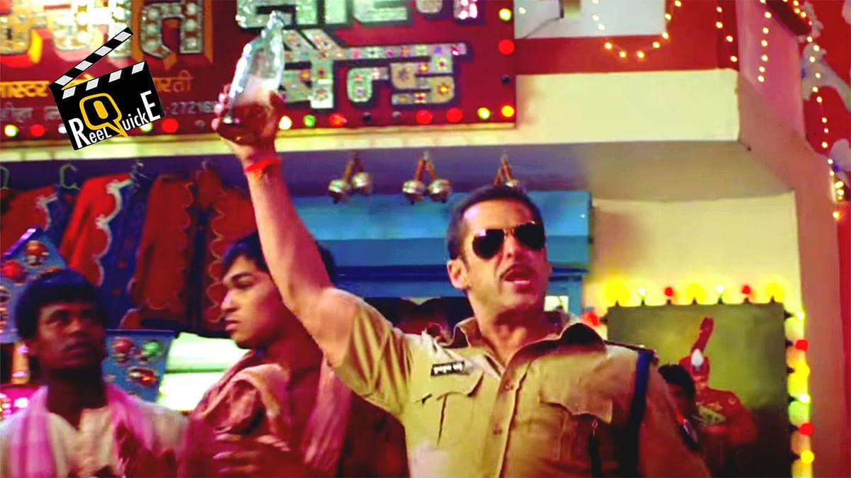 Salman Khan in a still from <i>Dabangg</i>