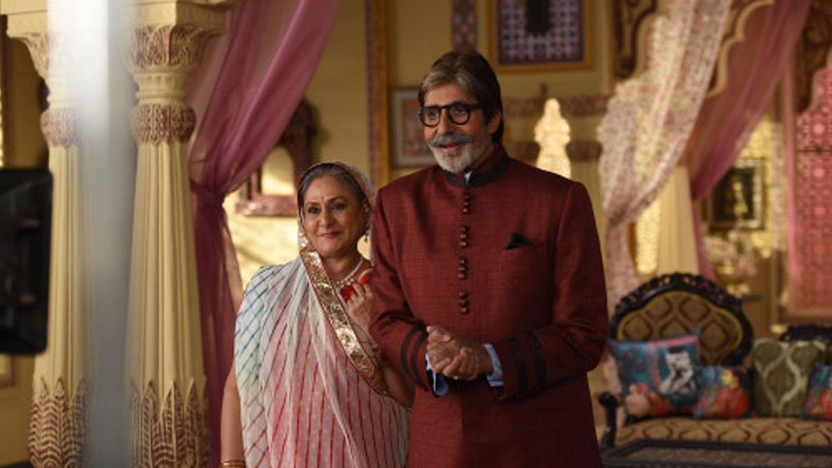 Amitabh  and Jaya Bachchan shoot for a TV Commercial (Photo: srbachchan.tumblr.com)
