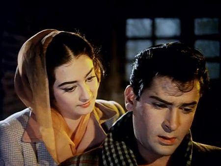 Shammi Kapoor and Saira Banu in <i>Junglee.</i>