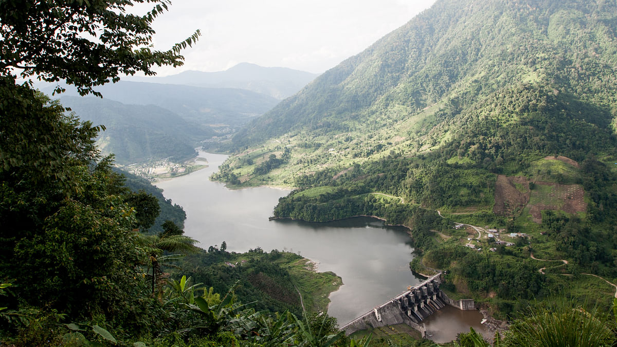 A picture of the Subansiri Dam on the beautiful travel route. (Photo Courtesy: Tadu Novin)