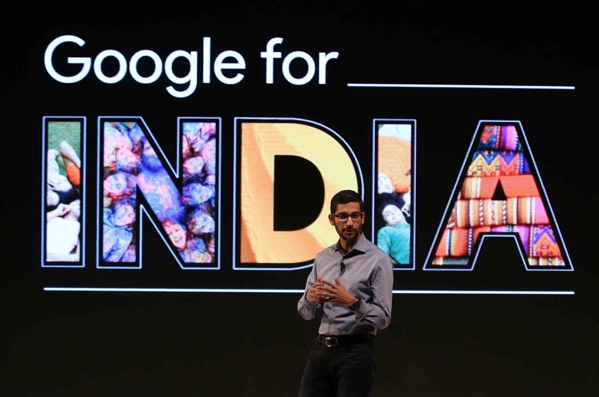 Google CEO Sundar Pichai during a press conference in Delhi on Dec. 16, 2015. (Photo: Sunil Majumdar/IANS)