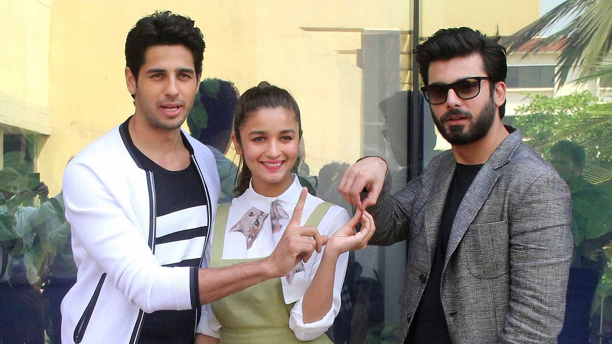 Sidharth, Alia and Fawad are charged up after meeting with SRK (Photo: Yogen Shah)
