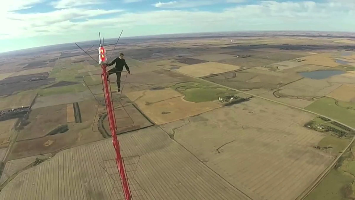 Man Climbs World's Tallest TV Tower Without Safety Gears