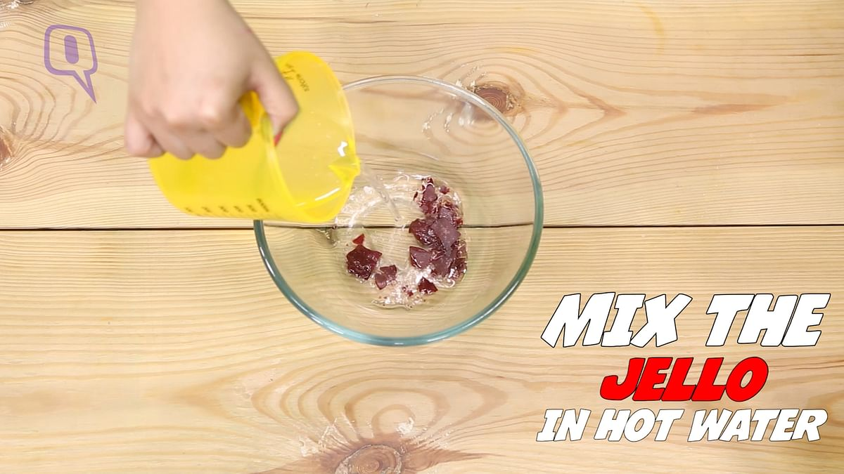 Add the jello mix in hot water