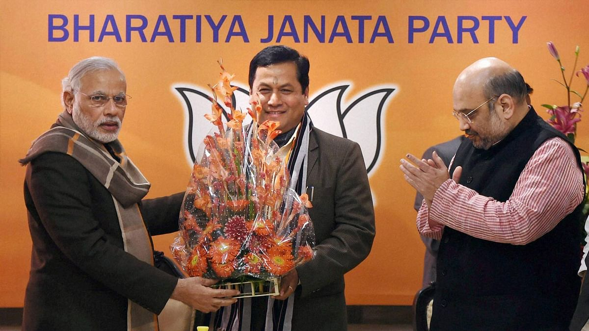 BJP's Sarbananda Sonowal will take the oath as the Chief Minister in Guwahati.  (Photo: PTI)