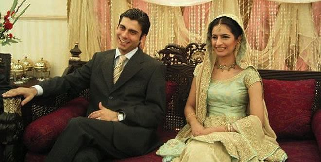 """A photo from one of Fawad and Sadaf's wedding functions (Photo: <a href=""""http://www.fashioncentral.pk/people-parties/celebrity-gossip/story-2008-chocolaty-hero-fawad-khan/"""">www.fashioncentral.pk</a>)"""