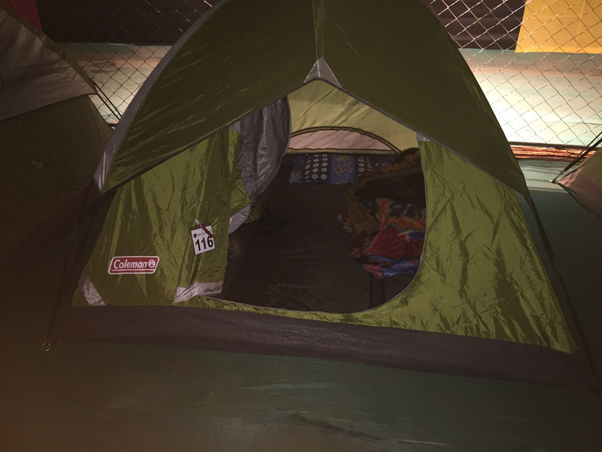 I had a two-person tent to myself – and one that was water and fire proof. (Photo Courtesy: Radhika Sharma)