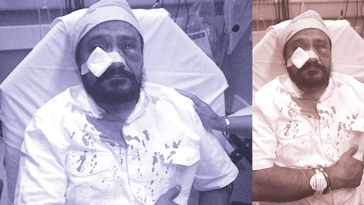 Sikh-American man Inderjit Singh Mukker was attacked last year by an American teen (Photo: altered by <b>The Quint</b>)