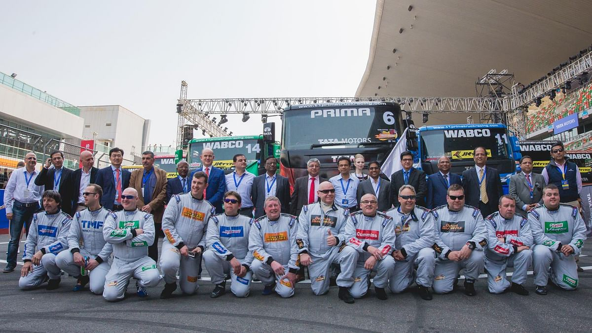 The T1 Prima Truck racing saw drivers from across the globe vying for the top spot on 'Pro Class'  category. (Photo: Tata Motors)