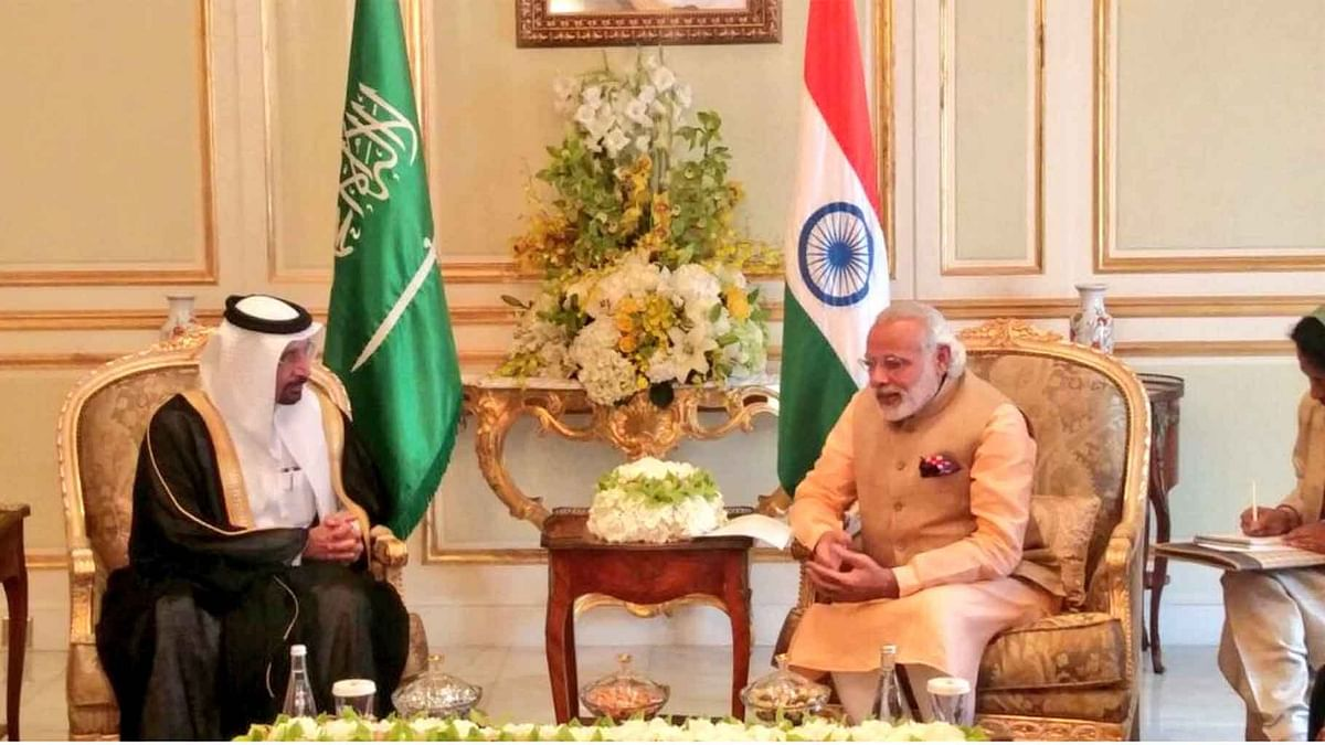 """An Indian Prime Minister is visiting the oil-rich Gulf kingdom after nearly six years (Photo Courtesy: <a href=""""https://twitter.com/MEAIndia"""">Twitter/@MEAIndia</a>)"""
