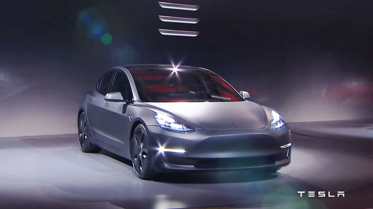 Model 3 doesn't go on sale until late 2017, but potential buyers could reserve one with a $1,000 deposit at Tesla stores starting Thursday morning. (Photo Courtesy: Tesla.com)