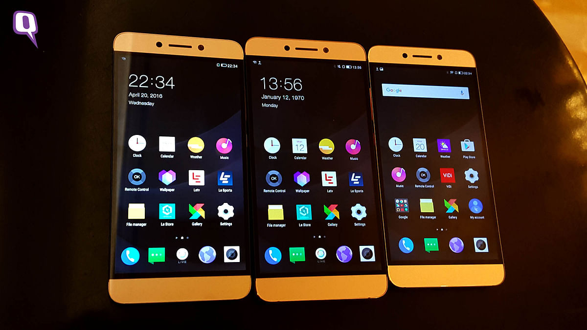 LeEco Le Smartphones for 2016. (Photo: <b>The Quint</b>)