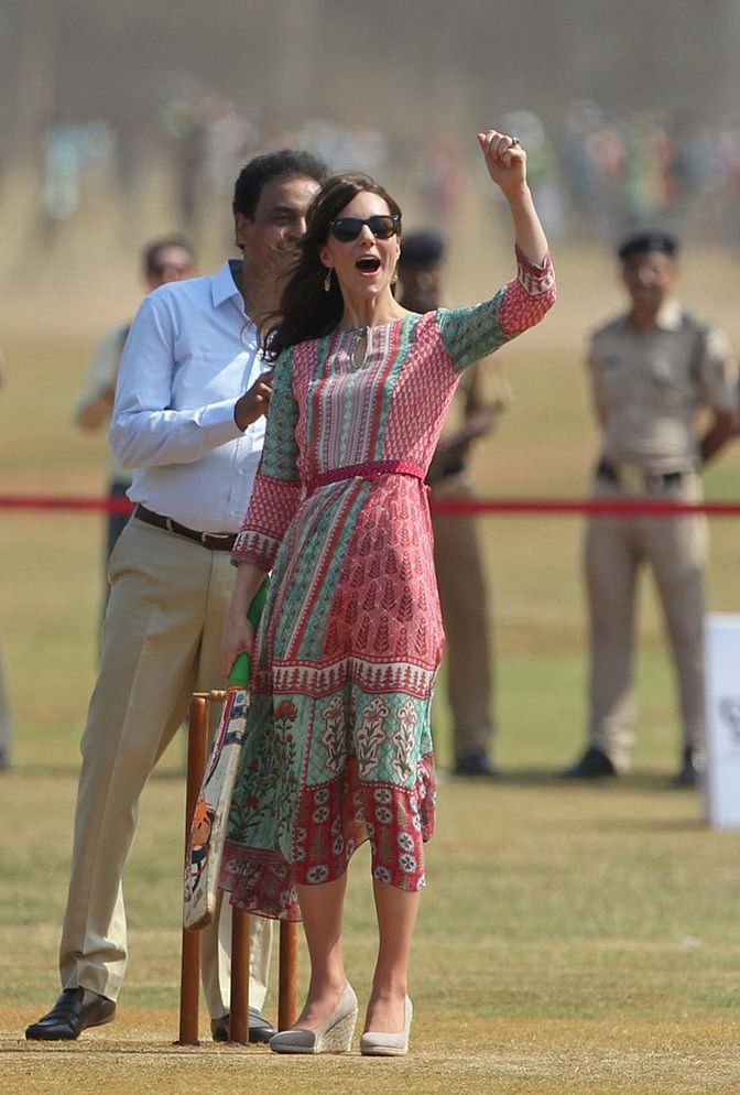 """""""Not Anita Dongre's most inspired looks...but she looked fresh, carefree and young"""", writes Shobhaa De. (Photo: AP)"""