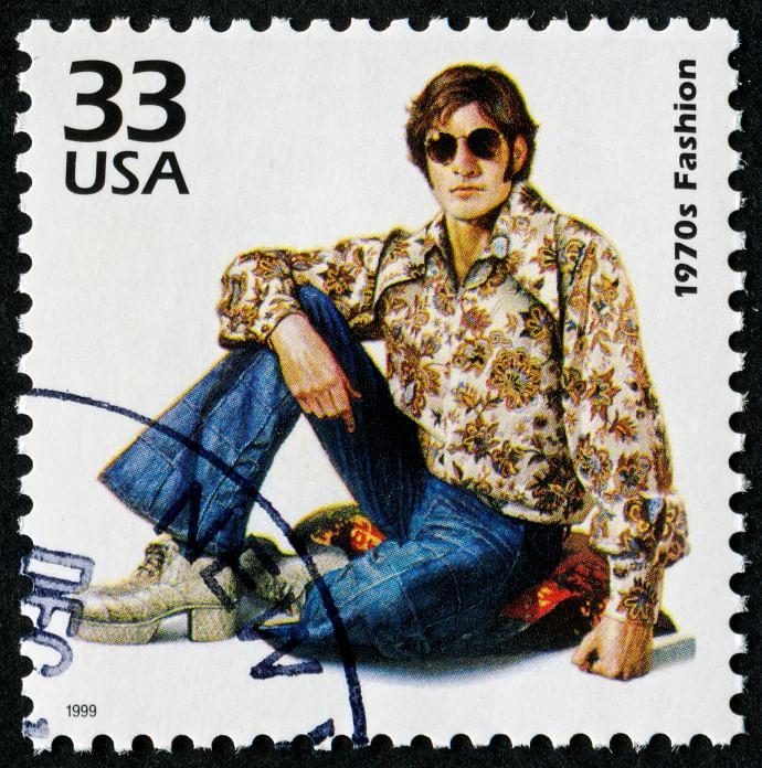1970's Fashion Stamp. (Photo: iStockphoto)