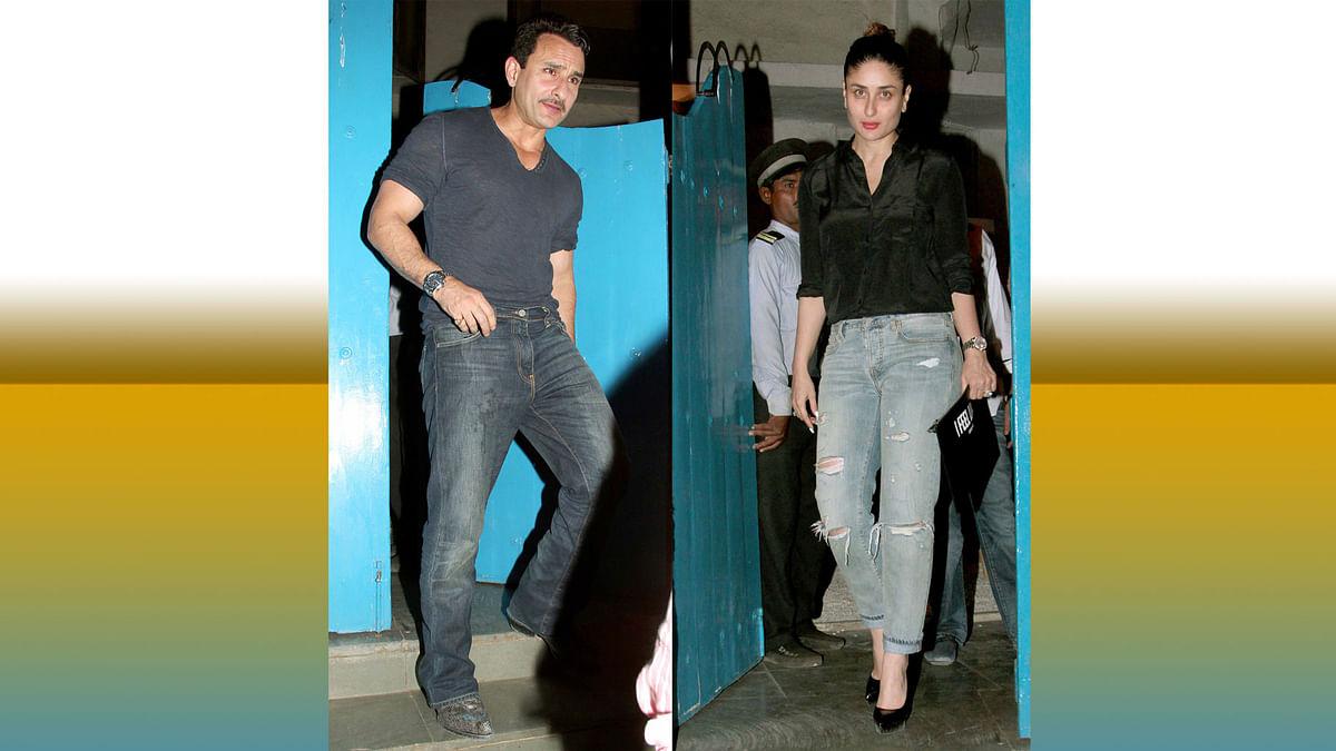 Saif Ali Khan and Kareena Kapoor Khan step out for a dinner date (Photo: Yogen Shah)