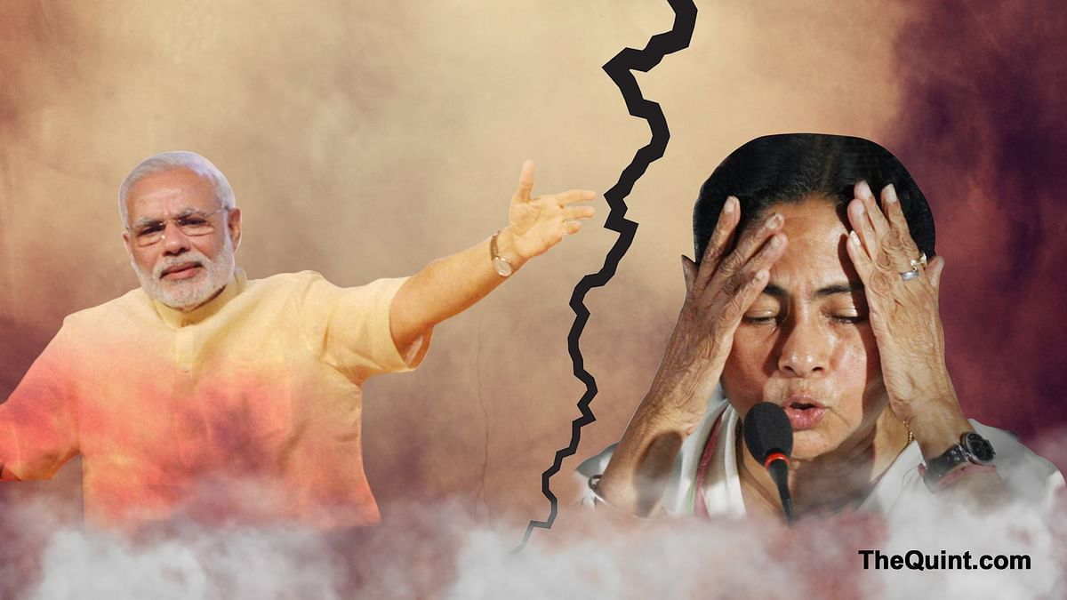 From sending bouquets to name calling, Modi and Mamata's political relationship has been through some tumultuous times. (Photo: Altered by <b>The Quint</b>)