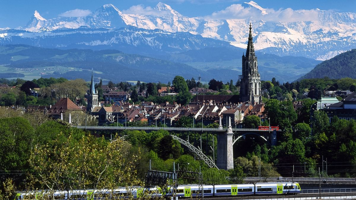 Bern – a view of the cathedral from a distance. (Photo Courtesy: Switzerland Tourism)