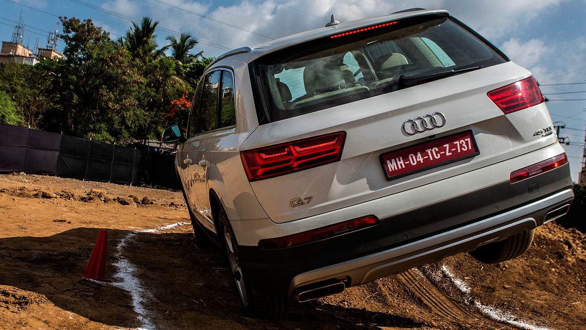 The Q drive also tests the limits of tilt-angles these cars can obtain. (Photo Courtesy: Audi)